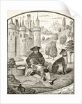 Sheep shearing in the Middle Ages by French School