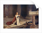 Aspirant knight keeping vigil of arms for entry into knighthood by John Pettie