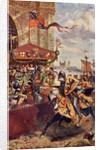 Solemn Joust on London Bridge between David de Lyndsays and Lord John de Welles in 1390 by Richard Beavis