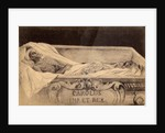 Postcard of the mummy of Charles V in the Escorial, Madrid by Spanish School