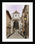 City gate at the end of Calle Real by Unknown
