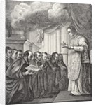 Vow of the first Compaions of St. Ignatius by English School