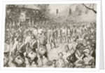 Occupation of New York by American troops on 25th November, 1793 by Spanish School