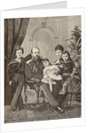 Alexander III of Russia and his family by Spanish School