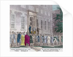 On 4th July, 1776, members of the Second Continental Congress leave Philadelphia's Independence Hall after adopting the Declaration of Independence from Great Britain by American School
