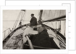 Hilaire Belloc in his boat by French Photographer