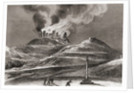 Fire at the Monastery of Montearagon, Quincena, Huesca, Spain in 1835 by Spanish School