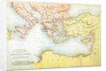 Countries travelled by the apostles and showing the journeys of St. Paul between Asia and Europe by English School