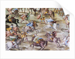 Detail of fresco in the Hall of Battles of the 1431 Battle of La Higueruela by Niccolo Granello