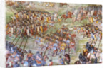 Detail of fresco in the Hall of Battles of the 1431 Battle of La Higueruela by Niccolo (and workshop) Granello