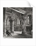 Interior of Roslin Chapel, with the Apprentice Pillar by English School