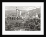 Balmoral Castle, Aberdeenshire, seen from the river Dee by English School
