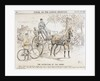 Cartoon about the coming of bicycles and motorised transport and the consequent end of Horse-drawn traffic by English School