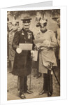 King George V and Kaiser Wilhelm II discussing operation orders in Germany in 1913 by English Photographer