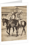 King George V and Kaiser Wilhelm II leaving Potsdam to attend a review of the troops in 1913 by English Photographer