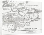 Map of Roman Kent, England by English School