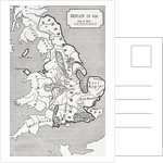 Map of Britain in 626 by English School