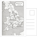 Map of Britain in 792 by English School