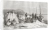 Congolese tribesmen by their boats on the Congo River in the 19th century by Spanish School