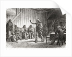 Crow Indian Chief Bear's Tooth at the great peace council at Fort Laramie, 12 November 1867 by Ange-Louis Janet
