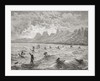 Hawaiians surfing by Edouard Riou