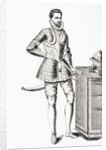 Francis, Duke of Anjou and Alencon, dressed in 16th century damascene armour by French School