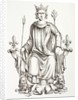 King Charles VI of France on his throne by French School