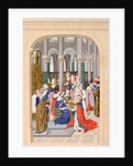 Coronation of Charles V, King of France, May 1364 by French School