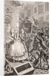 A street brawl in Paris in the 18th century by French School