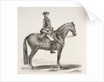 An 18th century French cavalry soldier mounted with his weapons by French School