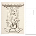 King Louis IX of France on his Throne with Fleur-de-Lis Motif by French School