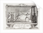 A Fencing Academy in 18th Century Paris by French School