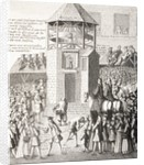 A Pillory in 18th Century Paris by French School
