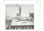 A Criminal Sentenced to Death being Broken on a St Andrew's Cross in 18th Century Frace by French School