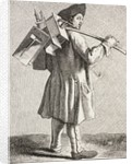 A Rat Cather with his Traps in 18th Century Paris by French School