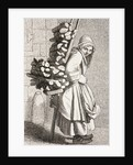 A Woman Carrying Firewood to Sell in 18th Century Paris by French School