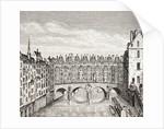 Houses on the Saint-Michel Bridge, Paris by French School