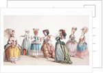 French Women's Fashions during the reign of Louis XVI by French School