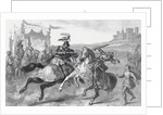 Two Knights Jousting at a Tournament in Germany by English School