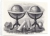 Globes of the Earth and the Heavens with Geometrical Forms by English School