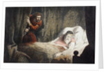 Macbeth about to murder King Duncan by Robert Dudley