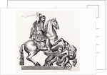 King Charles II of England represented as St George Slaying the Dragon by Gottfried Leigeber