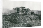 WWI British Tank in action on the Western Front by English Photographer