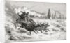 Samoyeds from Caborova on a Sleigh pulled by Reindeer by Edouard Riou