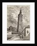 La Torre Nueva, Zaragoza in the 19th century by Gustave Dore