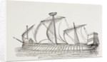 Sixteenth Century Three-Masted Galley with Square Sails by European School