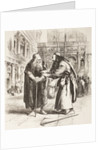 Illustration for The Merchant of Venice, Shylock and Tubal meet in the street, Act III, Scene I by Sir John Gilbert