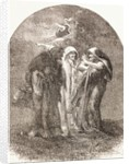 Illustration of the witches from Macbeth by English School