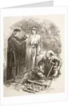 Hamlet holds the skull of Yorick by English School