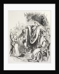 Lear believes Cordelia does not love him and banishes her by from 'The Illustrated Library Shakespeare'